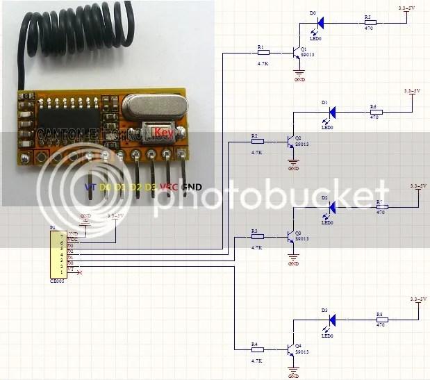 Rf Remote Control Receiving Decoder Circuit Controlcircuit