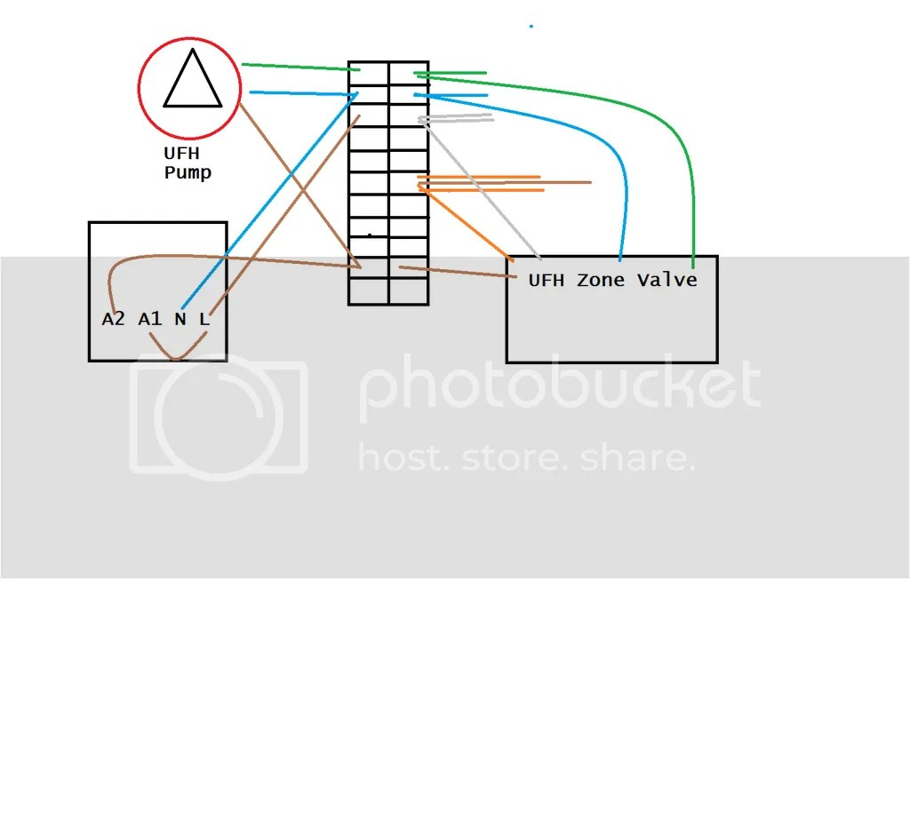zone valve wiring diagram clark forklift ignition in ufh system pump and thermostat
