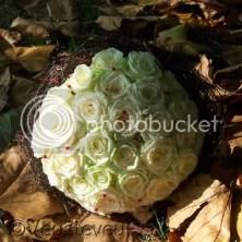 12,5 jaar getrouwd, bloemwerk gemaakt door mijn zusje!