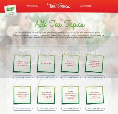 Op de site van Tea Topics staan heel veel vragen!