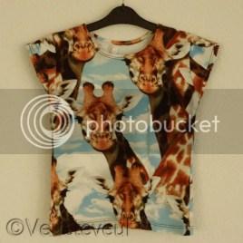 Giraf shirt voor de jongste - mt 122