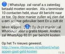 Zomaar van alles delen op facebook - WhatsApp - dat er betaald moet worden... blauwe stip!