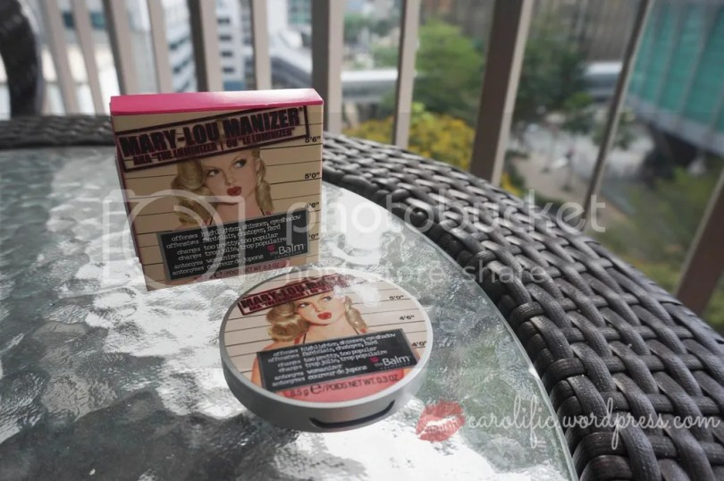 The Balm, The Balm Cosmetics, Mary Lou Manizer, Highlighter, Beauty, Review, Beauty Blogger, Diplomat's Wife, Makeup, Contour and Highlight, Pin Up Girl, Cute Packaging