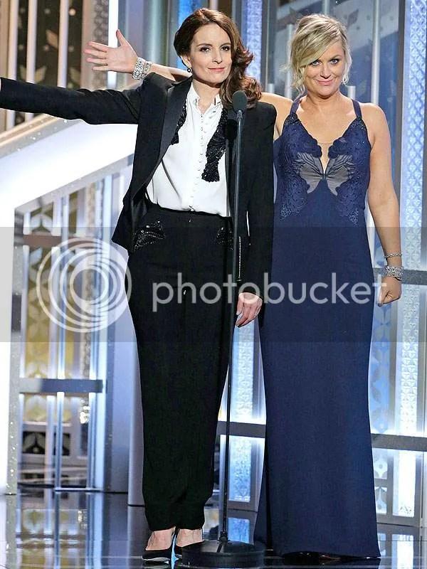 Tina Fey, Tuxedo, Golden Globes, 2015