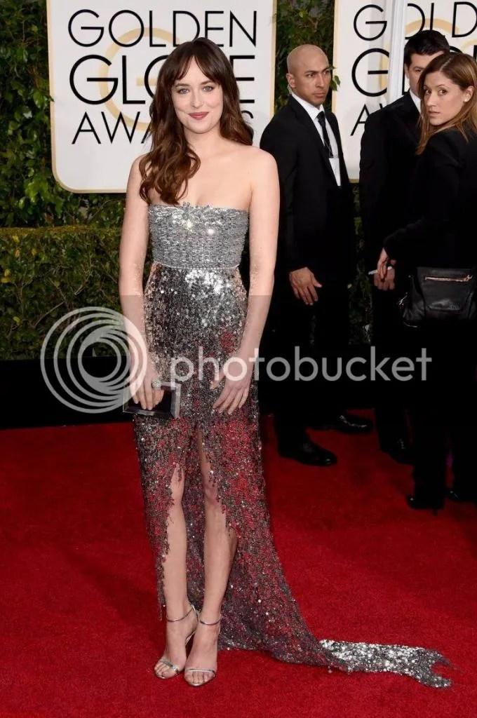 Dakota Johnson, Golden Globes, 2015