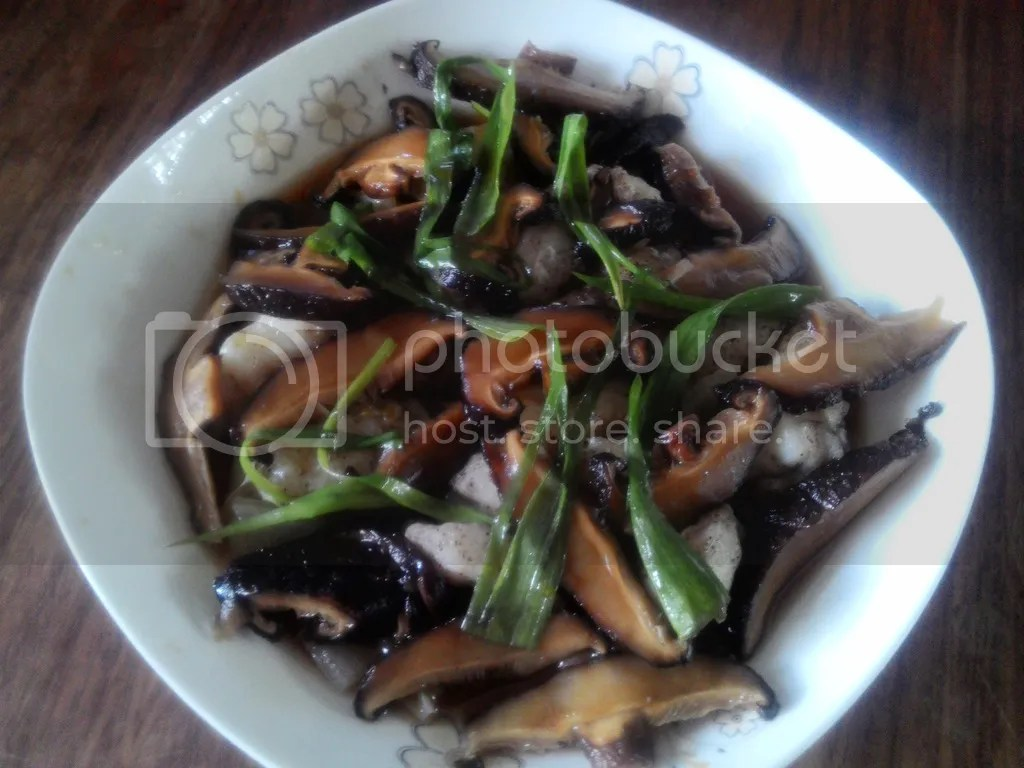 Steamed Fish Fillet with Shitake Mushroom