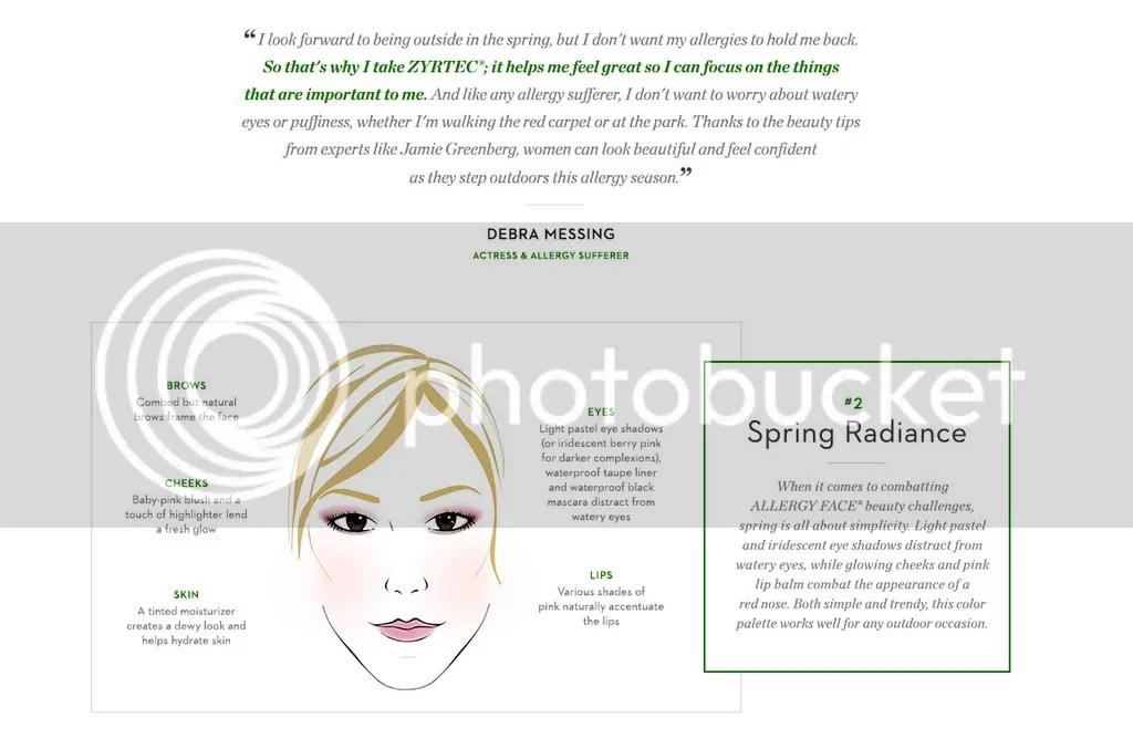 Zyrtec spring radiance allergies makeup look