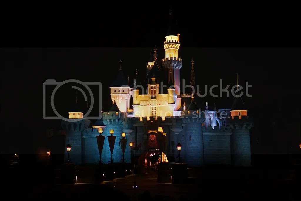 hongkong disneyland night view