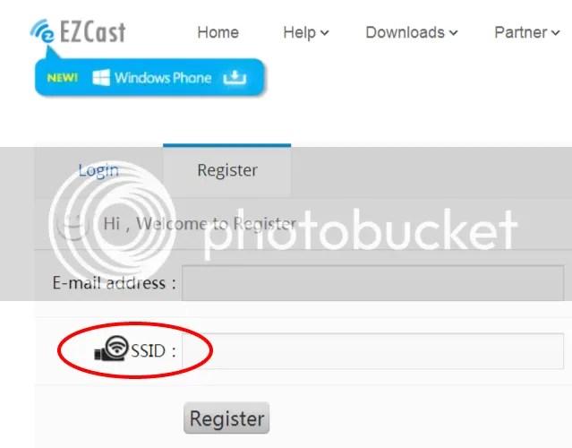 アカウント登録するのにSSIDの入力も求められる