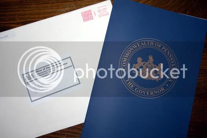 PA FAAW Proclamation - Folder