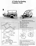 16 CAR TRAILER BUILDING PLANS CD CAR HAULER TRUCK FARM HOW