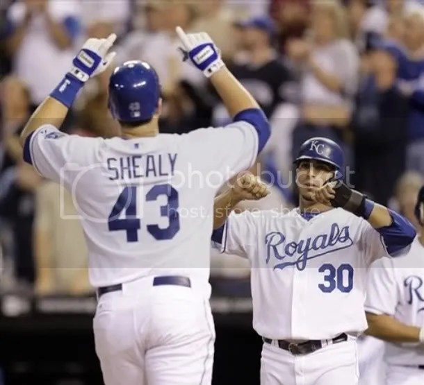 Home run machine (and super-cool guy) Ryan Shealy and RoY candidate Mike Aviles have been a huge help in the Royals recent surge.