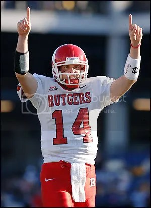 Rutgers QB Mike Teel...victorious tonight?