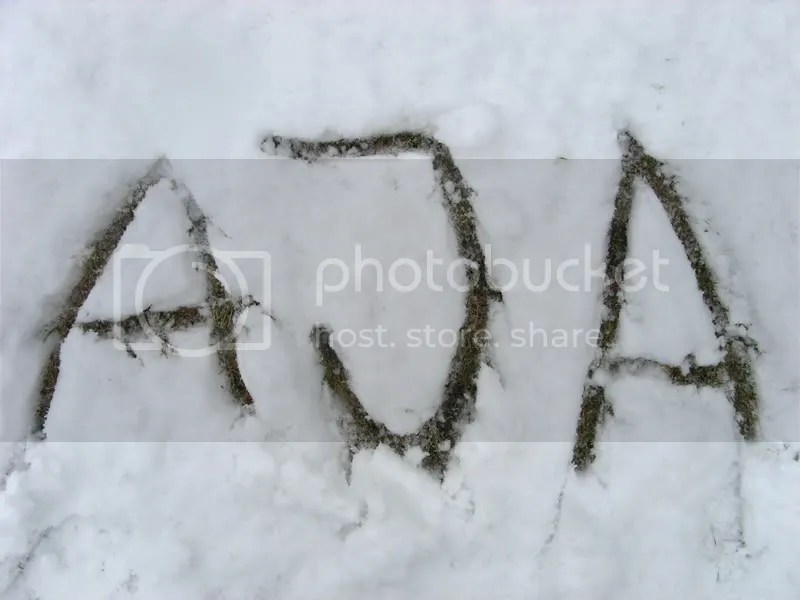 My name on the snow