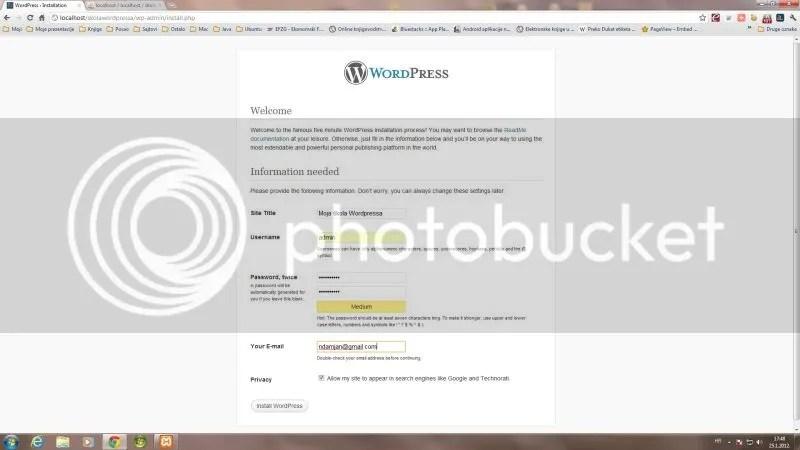 Wordpress osnovna konfiguracija