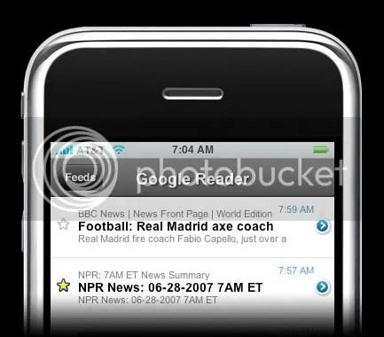 Google reader na iPhoneu