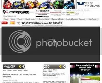 new MotoGP website