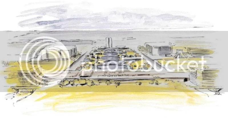 O projeto urbanístico de Brasília, idealizado por Lúcio Costa, resistirá mais 50 anos? Foto do paisagismo projetado, em 1960, por Burle Max para a Esplanada dos Ministérios. Fonte: http://www.skyscrapercity.com