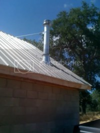 Stove Pipe: Stove Pipe Through Metal Roof