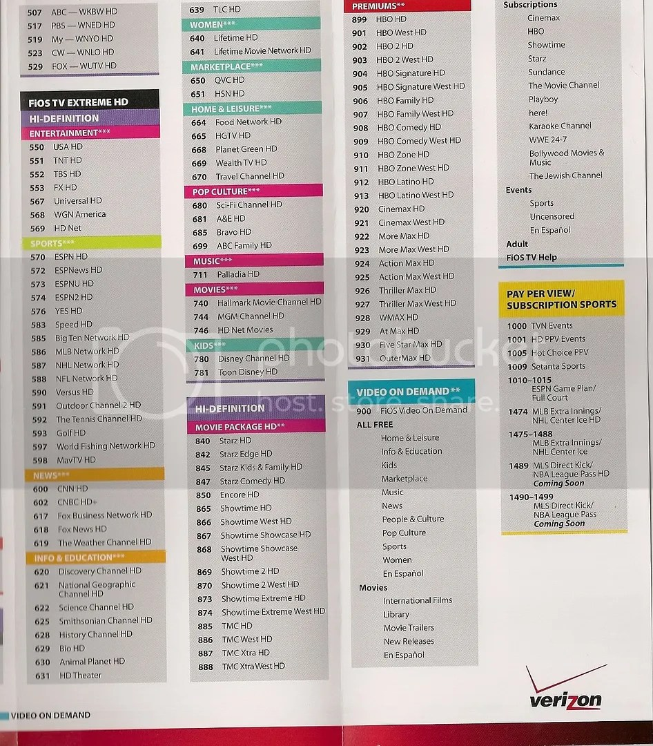 Time warner cable printable channel guide