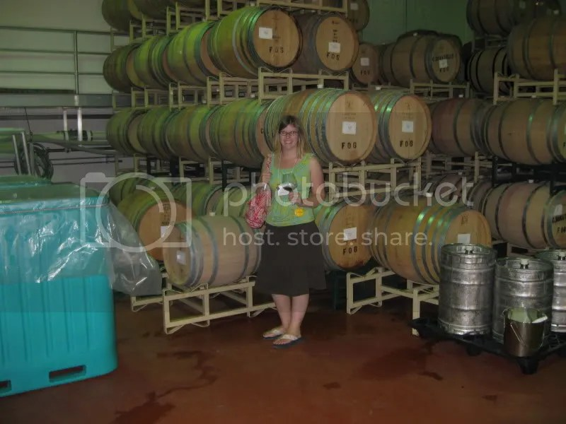 Me in one of the barrel rooms