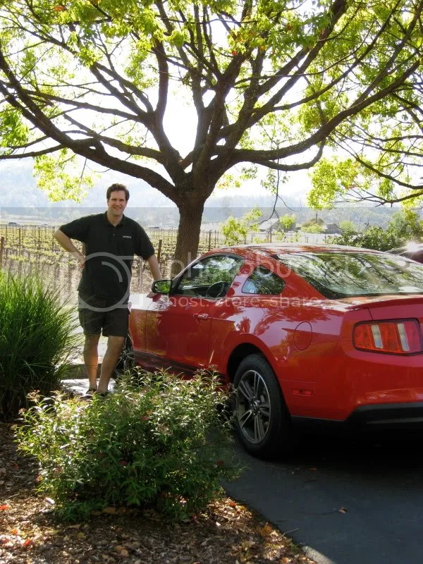 Matt poses with the car we drove all week!