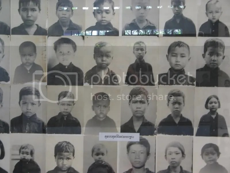 Child victims of the Khmer Rouge.