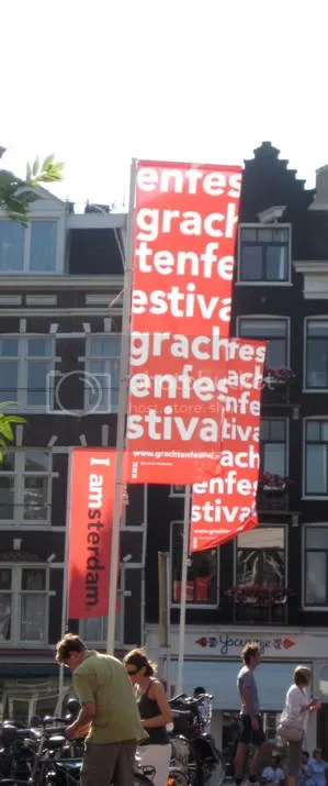 Banners for the canal festival