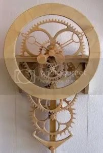 wood gear clock plans free