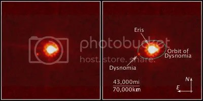 Eris and its moon Dysnomia