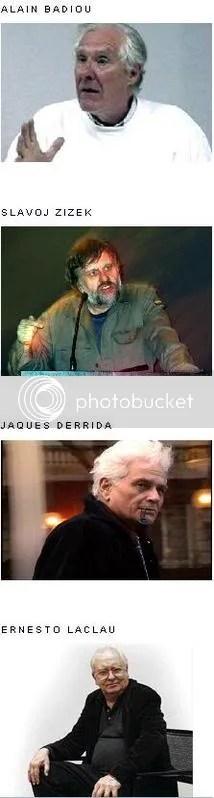 Filosofia teoria politica Laclau Zizek Badiou Derrida