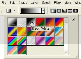 Selecting the black-to-white gradient