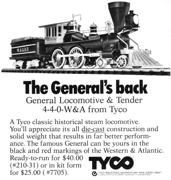 General Loco and Tender 4-4-0