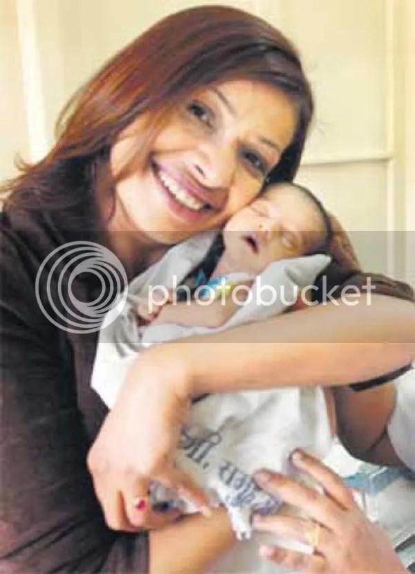 Achala Sachdev with Baby