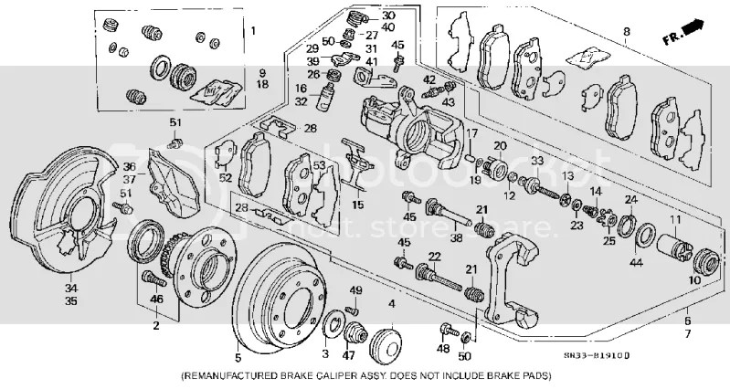 Honda Civic Rear Ke Caliper Diagram, Honda, Free Engine