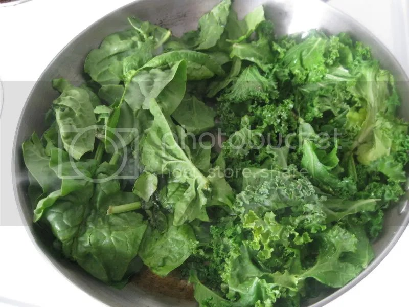 Kale and spinach