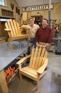 New Yankee Workshop and Norm Abram Fans Adirondack Chair