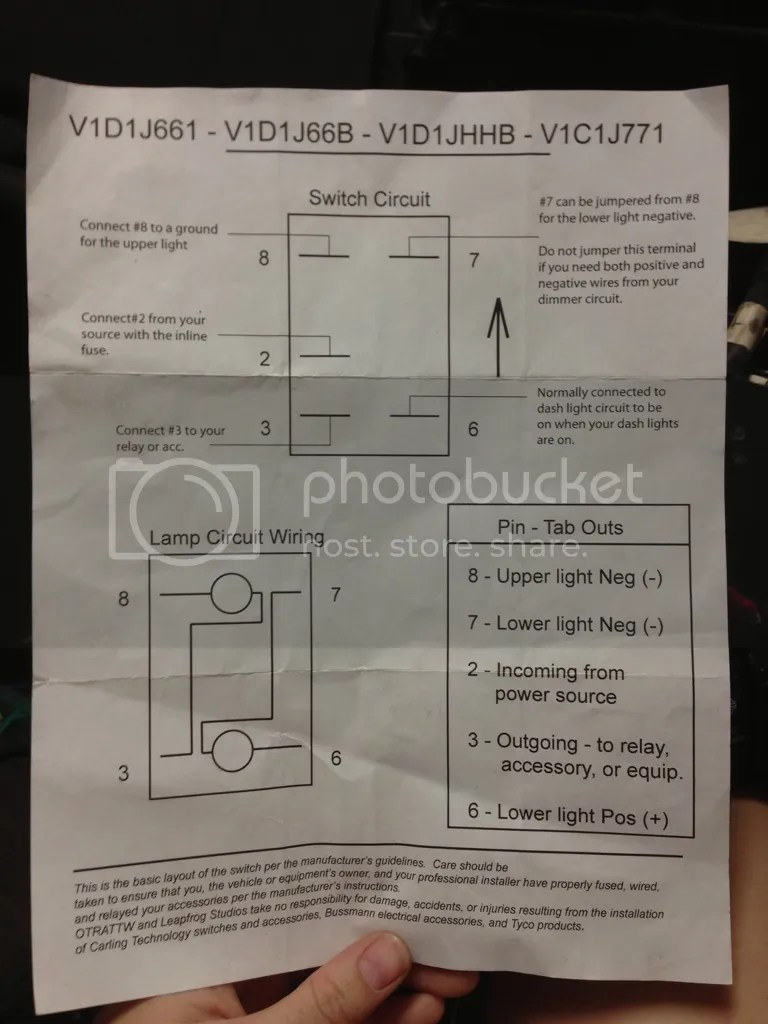 Switch Wiring Diagram Carling Switch Wiring Diagram Carling On