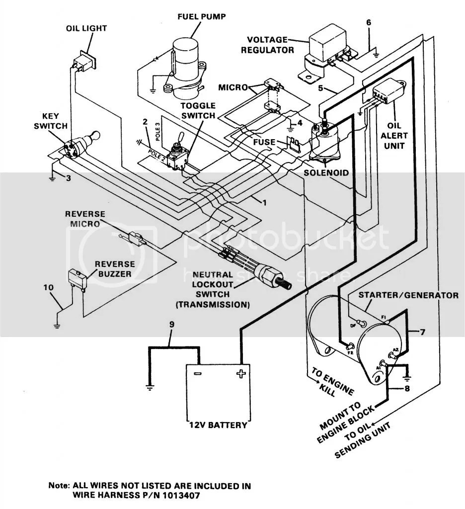 Wiring Diagram For 1984 Ezgo Gas Golf Cart