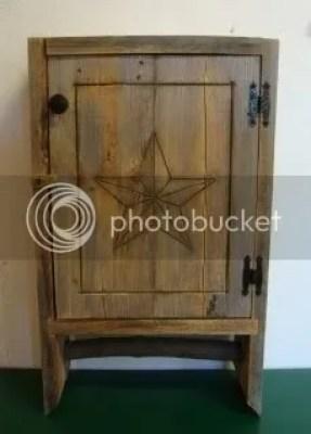 rustic wooden cupboard