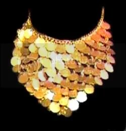 Golden Ruffle Egyptian Necklace