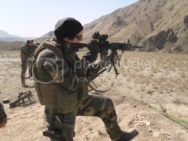 French female soldier, Kapisa province, 2009