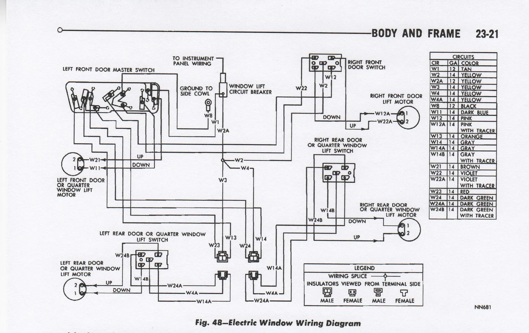 1968 coronet wiring diagram