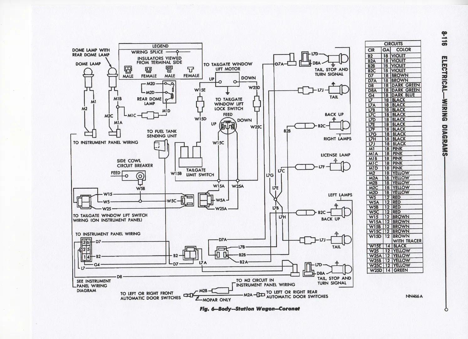 67 coronet wiring diagram