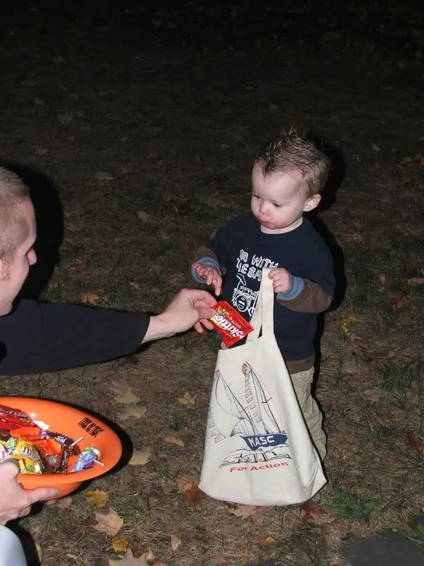 Gabe Trick or Treating - Halloween 2007