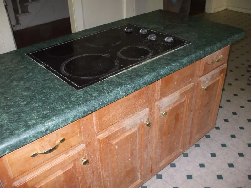 The offending kitchen island