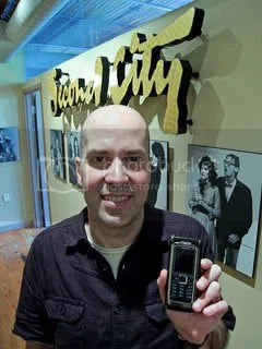 Klaus Schuller with his Nokia E90