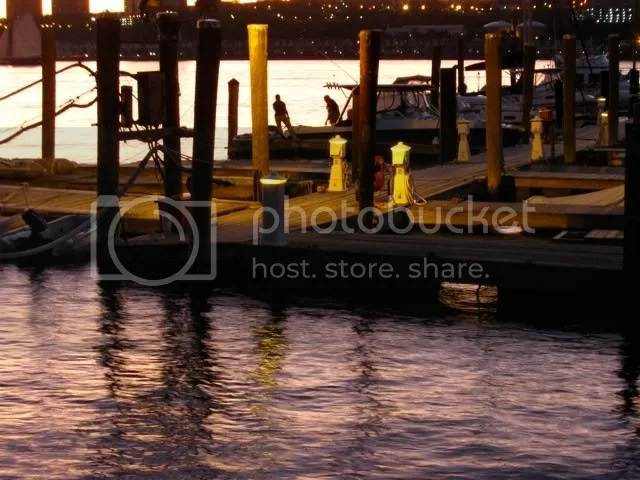 79th street boat basin at sunset