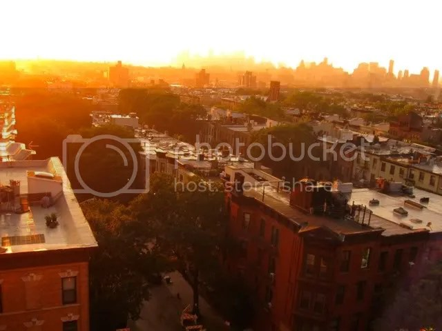 Park Slope, Brooklyn, sunset