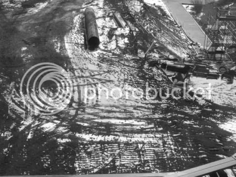snow, astoria construction site